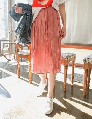 Peripiah Banding Wrinkles Skirt 28368