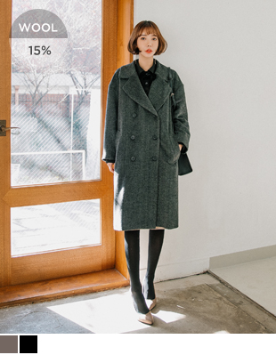 Dayton Herringbone double Wool Coat 41192