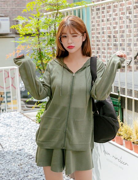 Nitta Summer Knit Hoodies zip up 44759