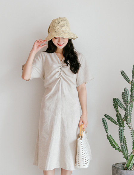 Hassel Linen Shearing One Piece 44743