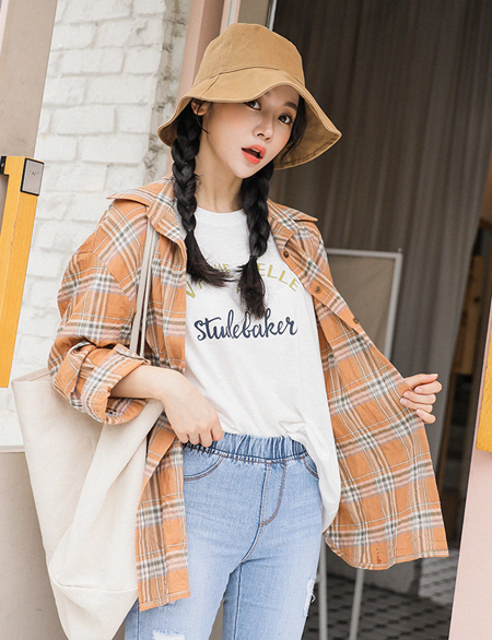 Minuet loose fit Check Shirt 45025