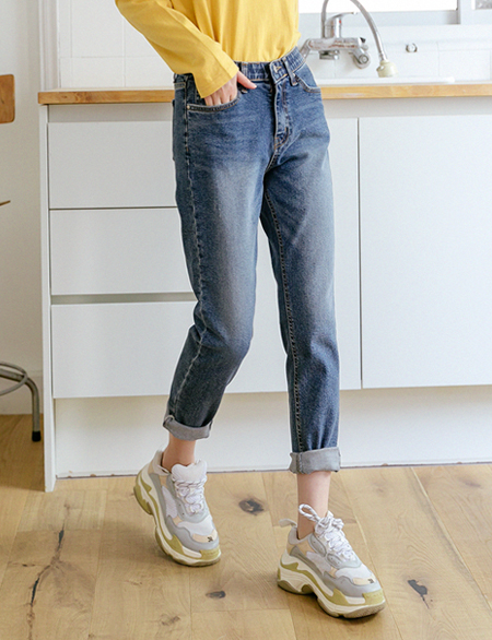 Anichen Denim Hidden Bending Pants 45133
