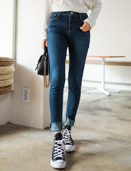 Chev Hidden Bending Denim Skinny 45164