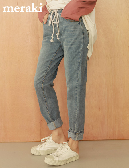 (unisex) Greater Banding Denim Pants 45711