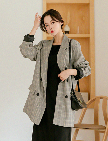 Delrin Check double Jacket 45632