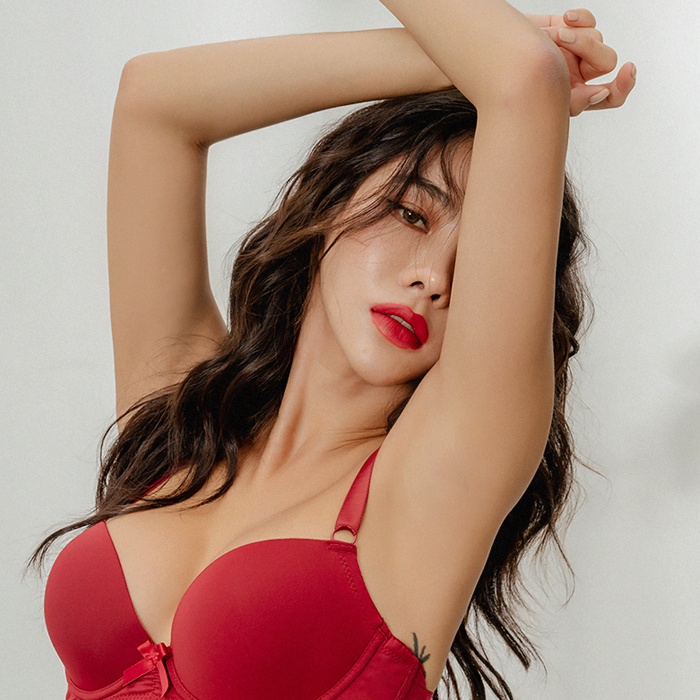Chili Red Double Wing Bra 45582