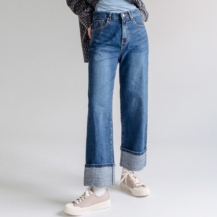 (unisex) Known Rollup Denim Pants 46354
