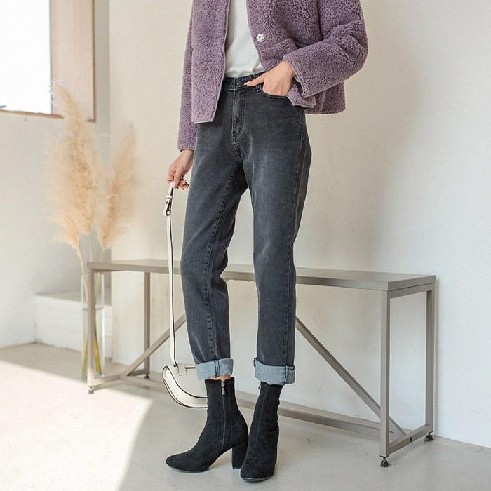 Metty Hidden Bending Baggy Denim Pants 46509