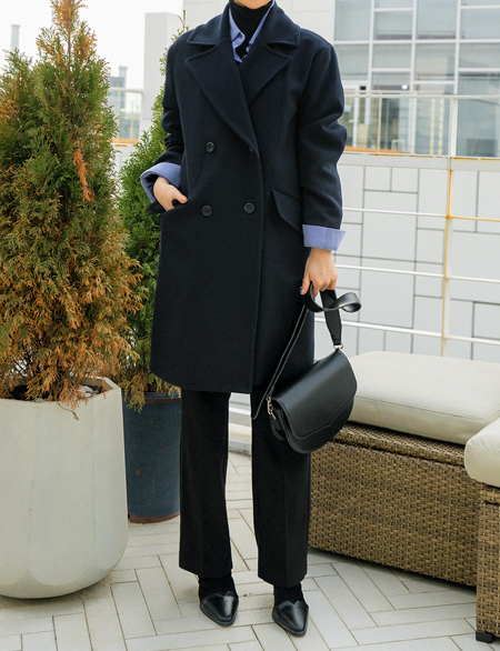 Bruno Long Wool Coat 46823