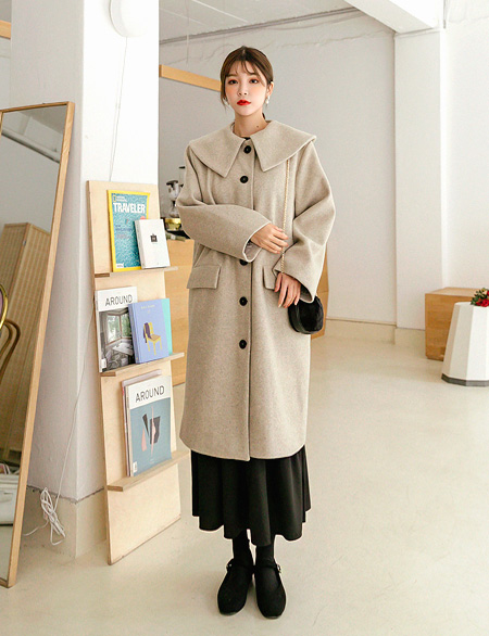 Duan Big Color Wool Long Coat 46995