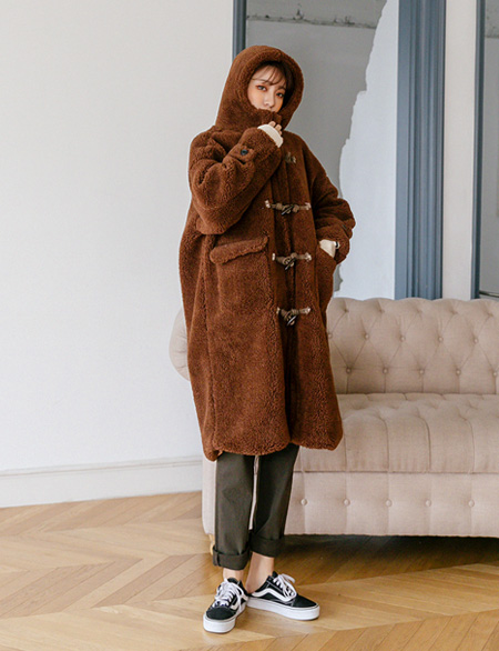 Snick Wool Dumble Long Tteokbokki Coat 47074