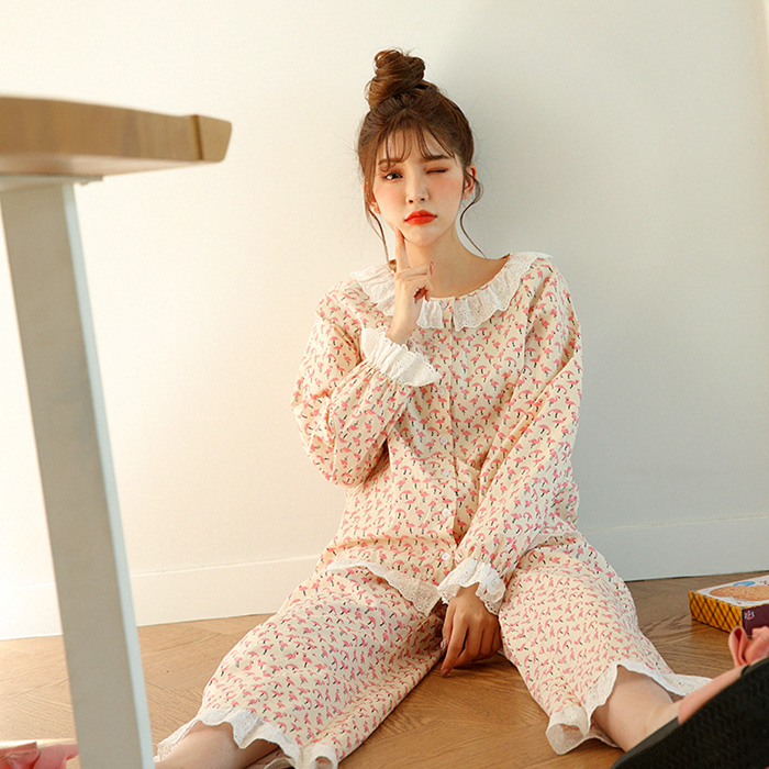 [Secondary arrival] Flamingo Pajama Set 48684