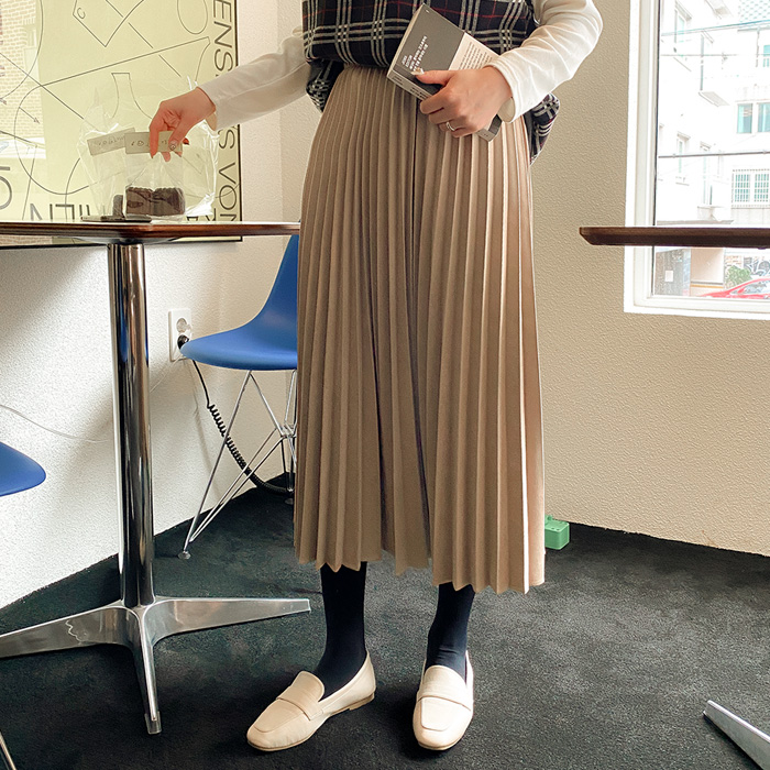 Melibi Banding Pleats Long Skirt 51882