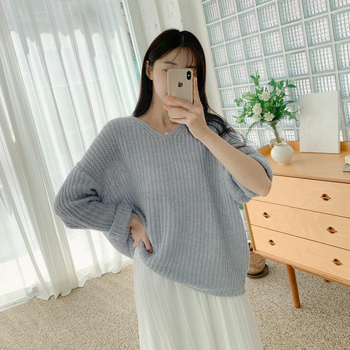 Havel mohair loose fit Knit 60824