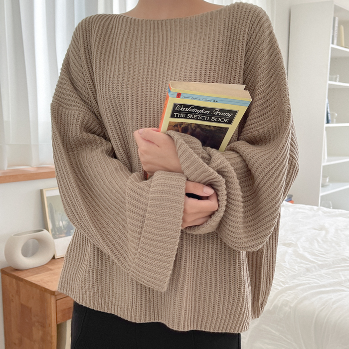 Onetzl loose fit sleeves Rollup Knit 61105