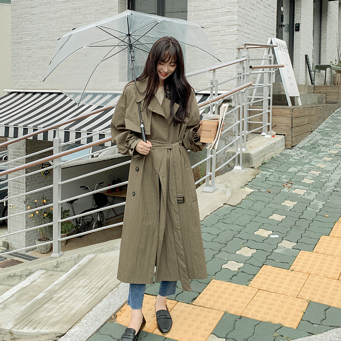 Shirlin loose fit Washing Trench Coat 61276