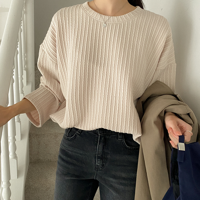 cullet round knit T-shirt 61500